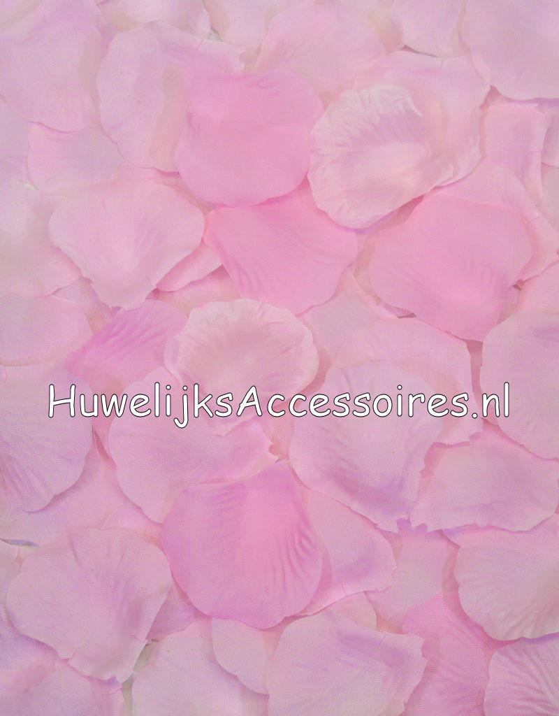 Luxe strooi rozenblaadjes licht roze