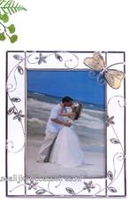 Luxe trouwfotolijst met een geëmailleerd libelle