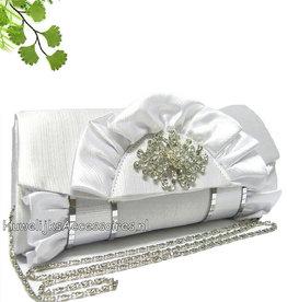 Bruidstasje wit gekleurd