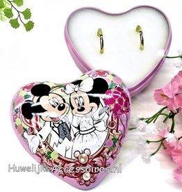 Disney Disney Mickey en Minnie hartvormig ringdoosje