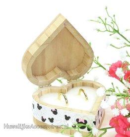 Disney Mickey en Minnie hartvormige trouwring doosje
