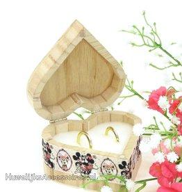Disney Mickey en Minnie hart trouwringen doosje