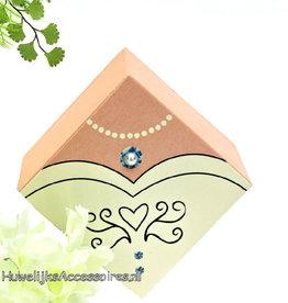 Huwelijk bedankje doosje als bruidsjurk