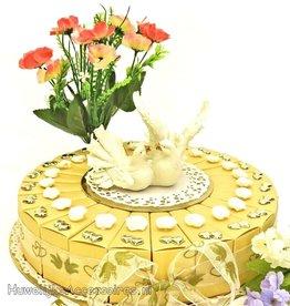 Huwelijk bedankjes met roosjes en hartjes