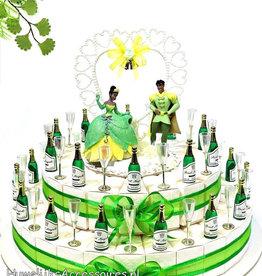 Disney Disney bedankjes taart met champagneglazen
