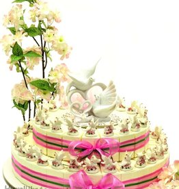 Bedankjes taart met tortelduiven