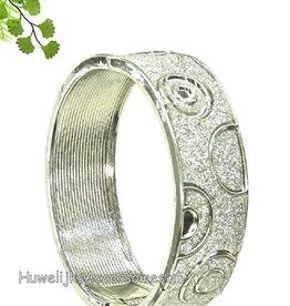 Slavenarmband zilver met strass steentjes