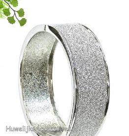bruidsarmband zilver met strass steentjes
