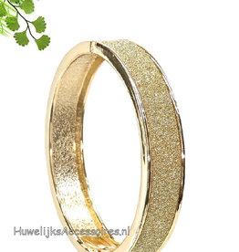 Prachtige rosé gouden strass armband