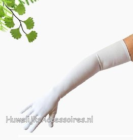 Bruidshandschoenen kleur wit
