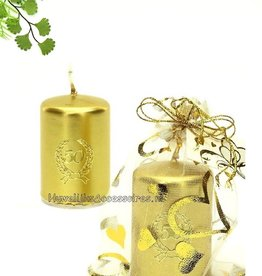 Jubileum bedankje met gouden kaarsje