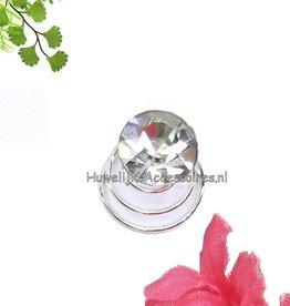 Zeer mooie set van 6 strass steen curlies