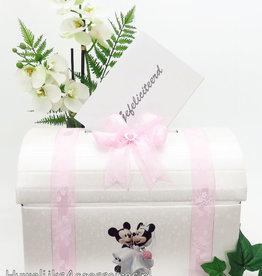 Disney Mickey en Minnie bruiloft receptie enveloppendoos