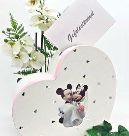 Disney Mickey en Minnie hart enveloppendoos