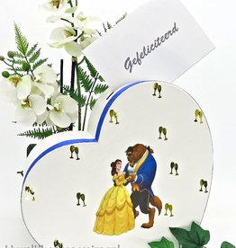 Disney Belle en het Beest hart receptie enveloppendoos