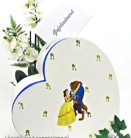 Disney Belle en het Beest hart bruiloft enveloppendoos