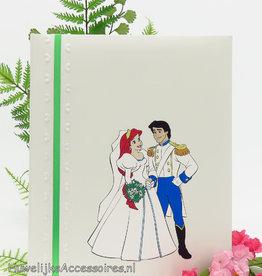 Disney Leuke gastenboek ivoor met Ariel & Erik