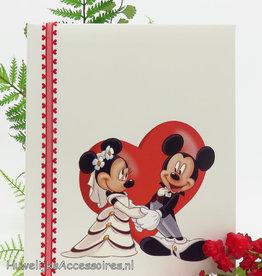 Disney Luxe gastenboek ivoor met Mickey & Minnie