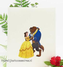 Disney Belle en het Beest huwelijk gastenboek