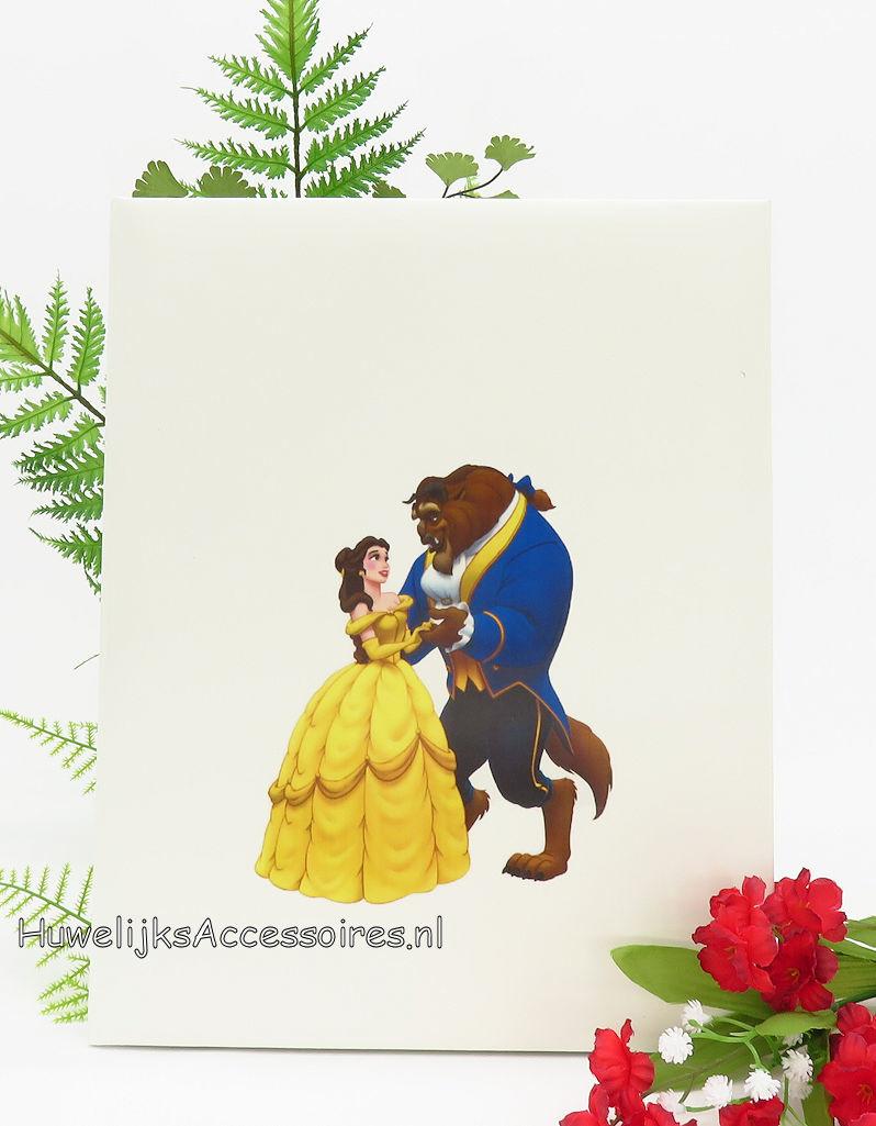 Disney Belle en het Beest bruiloft gastenboek