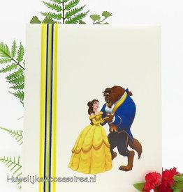 Disney Belle en het Beest ivoor gastenboek