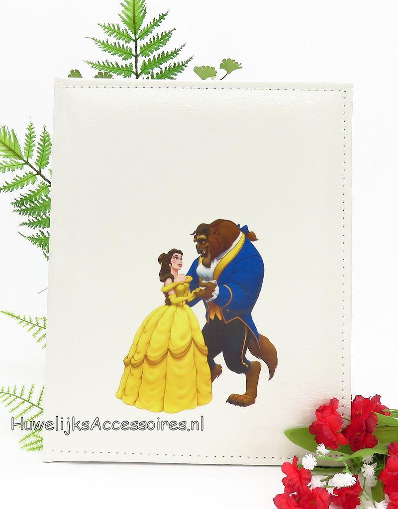Disney Prachtige gastenboek met een print van Belle en het Beest