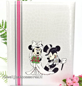 Disney Bruiloft gastenboek met Mickey en Minnie