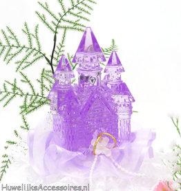 Disney Paars kristal kasteel bruidstaart topper