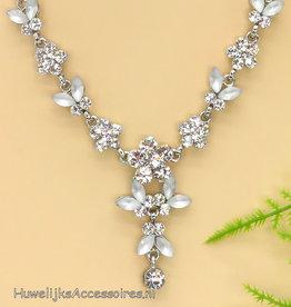 Prachtige Swarovski kristal halsketting