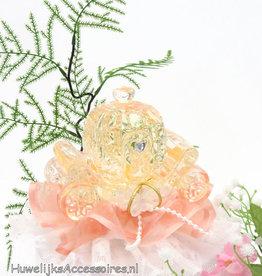 Disney Perzik kristal koets bruidstaart topper