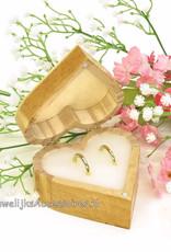 Disney Jack Skellington en Sally hartvormig trouwringen doosje