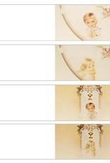 Communie tuniekjurk als bedankje versierd met gouden lint