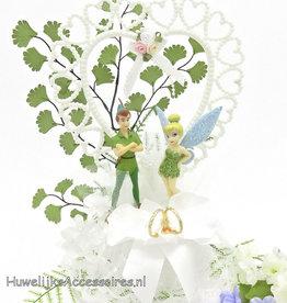 Disney Tinkerbell met Peter Pan bruidstaart topper