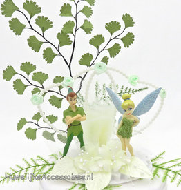 Disney Tinkerbell en Peter Pan bruidstaart topper
