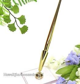 Goud receptie pen en houder
