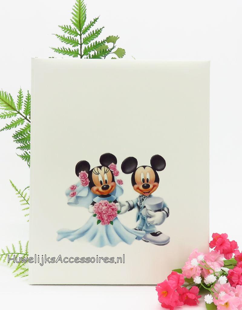 Disney Bruiloft gastenboek met Mickey en Minnie Mouse