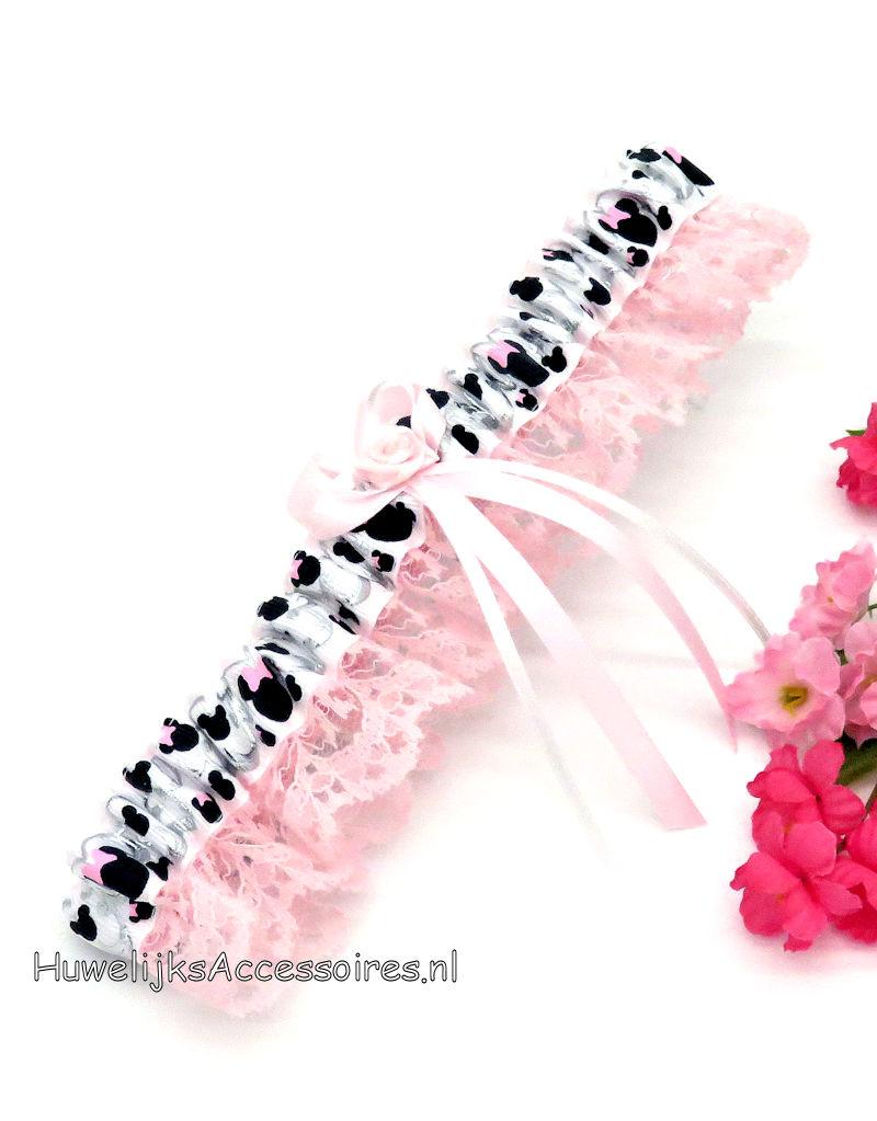 Disney Disney Minnie Mouse bruids kousenband roze kant