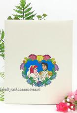 Disney Prinses Ariel en Eric bruiloft receptie gastenboek