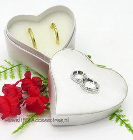Hartvormig zilver ringdoosje