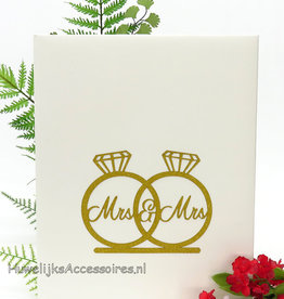 Mrs & Mrs gouden ringen gastenboek