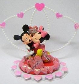 Disney Mickey en Minnie in love bruidstaart topper.