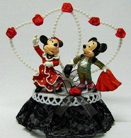 Disney Spaanse Mickey en Minnie taarttopper