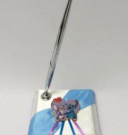 Stitch en Angel pen en houder set