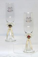 Mickey & Minnie op de champagneglazen