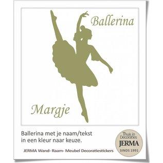 JERMA decoraties Ballerina met je naam en de kleur kies je zelf uit.