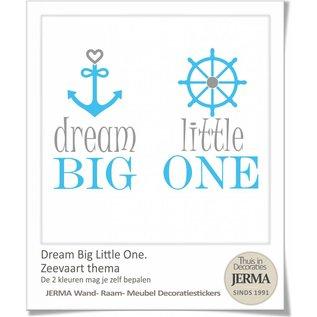 JERMA decoraties Dream big little one muursticker Kinderkamer tekst.