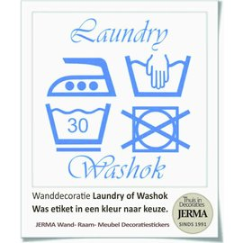 JERMA decoraties Was symbolen muursticker Laundry of washok