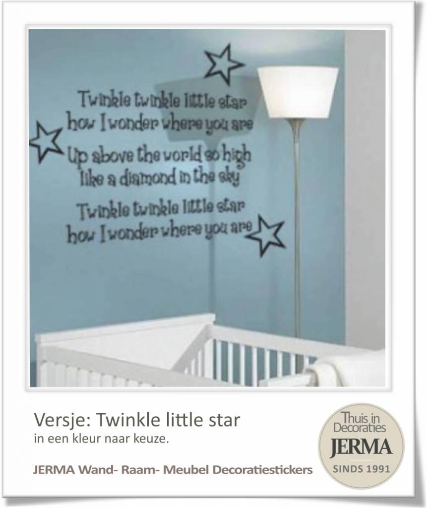 Letters Voor Op De Muur Kinderkamer.Muurtekst Babykamer Twinkle Little Star Met 3 Sterren Jerma