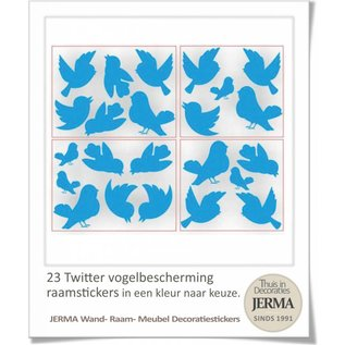 JERMA decoraties Vogel sticker set 23 twitterende vogelbeschermers