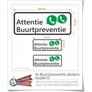 Allerhandestickers.nl Buurtpreventie WhatsApp stickers Model A